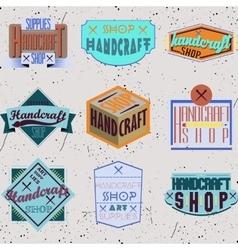 Color retro design insignias logotypes set vector image vector image