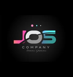 jos j o s three letter logo icon design vector image vector image