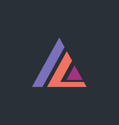 triangle line construction geometry logo vector image