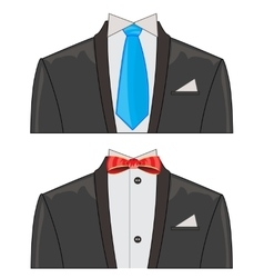 Two suits on white background vector image