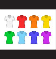 Woman t-shirt cotton clothing vector