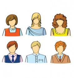 avatars vector image