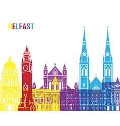 Belfast skyline pop vector image vector image
