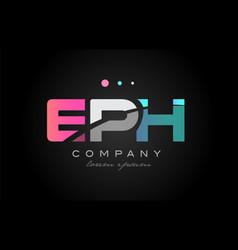 eph e p h three letter logo icon design vector image vector image
