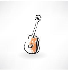 Guitar grunge icon vector