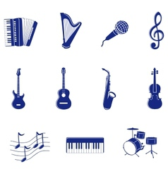 musical icon vector image