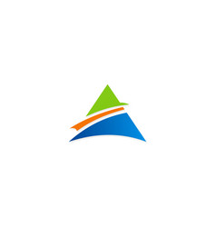 triangle pyramid business logo vector image vector image