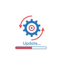 update application progress icon vector image vector image