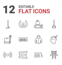 12 long icons vector