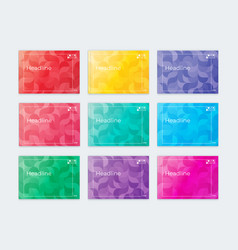 a set of templates horizontal covers a4 vector image