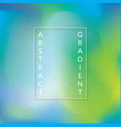 abstract gradient background with green and blue vector image