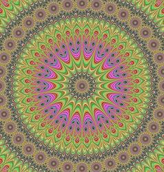 Abstract oriental fractal mandala design vector