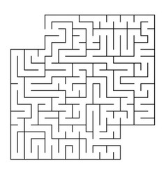 Abstract square isolated labyrinth black color on vector