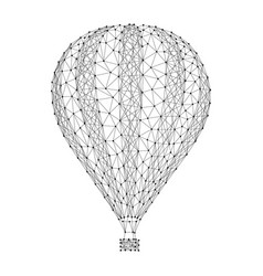 Air ballon to fly in sky from abstract vector