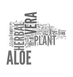 Aloe vera curacao text word cloud concept vector