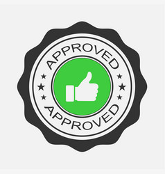 approved stamp sticker or banner in flat design vector image