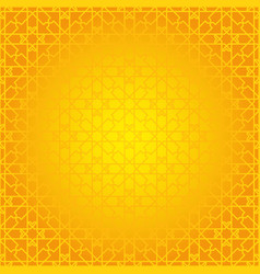 arabesque geometric seamless contour yellow vector image