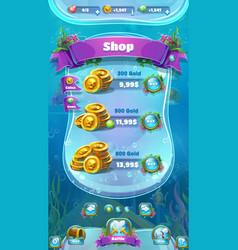 Atlantis ruins - the mobile format shop screen vector