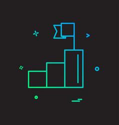 award pedestal sport winner icon design vector image