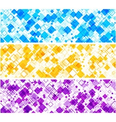 Banners set with rhombs vector
