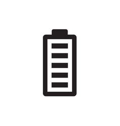 Battery - black icon on white background vector