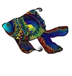 Beautiful bright fish vector image