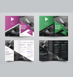 bifold brochure for business with a place for vector image