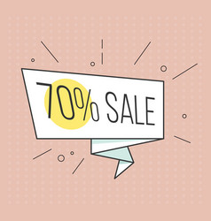 Big sale banner retro comic style vector