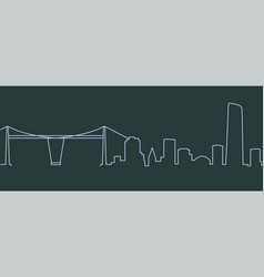 bilbao single line skyline vector image