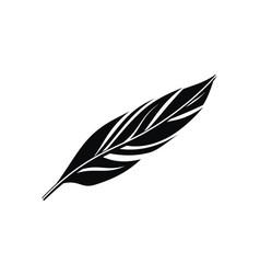 Black feather logo design template vector