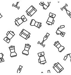 blender kitchen tool seamless pattern vector image
