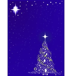 Blue Blue Christmas vector image