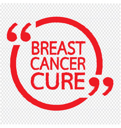 breast cancer cure design vector image