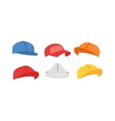Builders hats set vector image