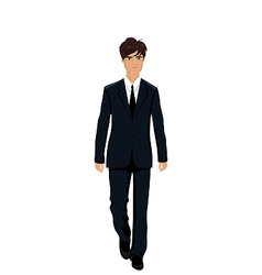 businessman in suit isolated - vector image