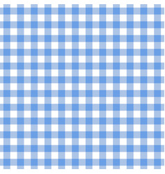 checkered blue tablecloth seamless pattern vector image