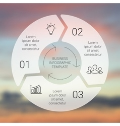 Circle line arrows infographic template for cycle vector