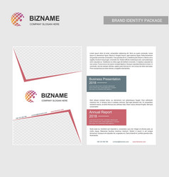 company borchure design with slogan and with vector image