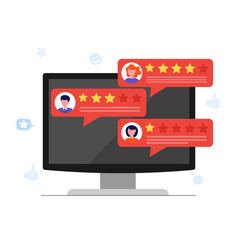 customer review concept with rating stars vector image