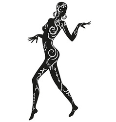 Dance of ethnic woman vector image