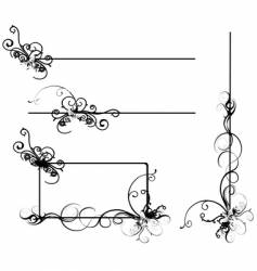 design scrolls vector image