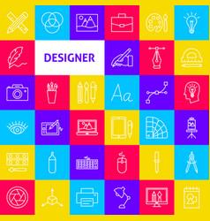 Designer line icons vector
