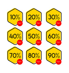 Discount label template design vector