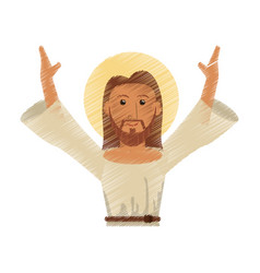 drawing jesus christ design vector image