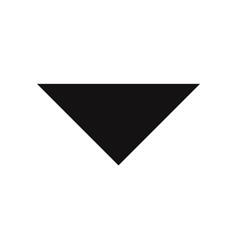 drop down arrow icon vector image
