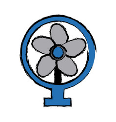 Electric fan appliance air device vector