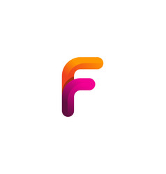 F colorful letter logo icon design vector