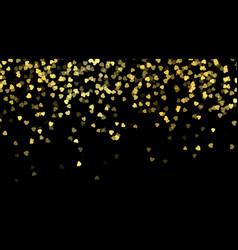 fallen golden hearts happy valentines day vector image