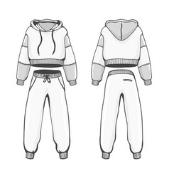 Female hoody with pants vector