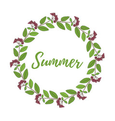 floral frame with summer flowers and leaves vector image